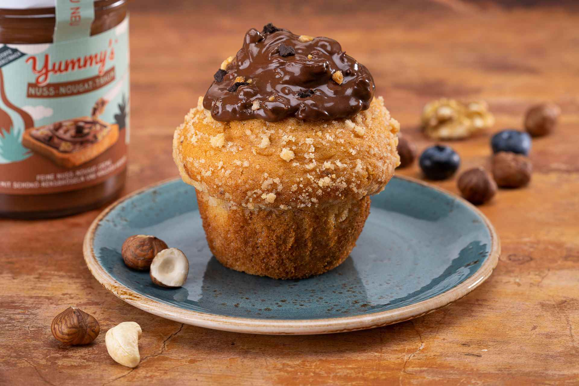 MUFFIN MIT YUMMY'S NUSS-NOUGAT-TOPPING